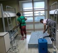 학교기숙사침대세탁